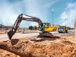 Услуги колесного экскаватора Volvo EW205D в Вельске